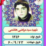 *نوجوان بسیجی شهید سید مرتضی هاشمی*